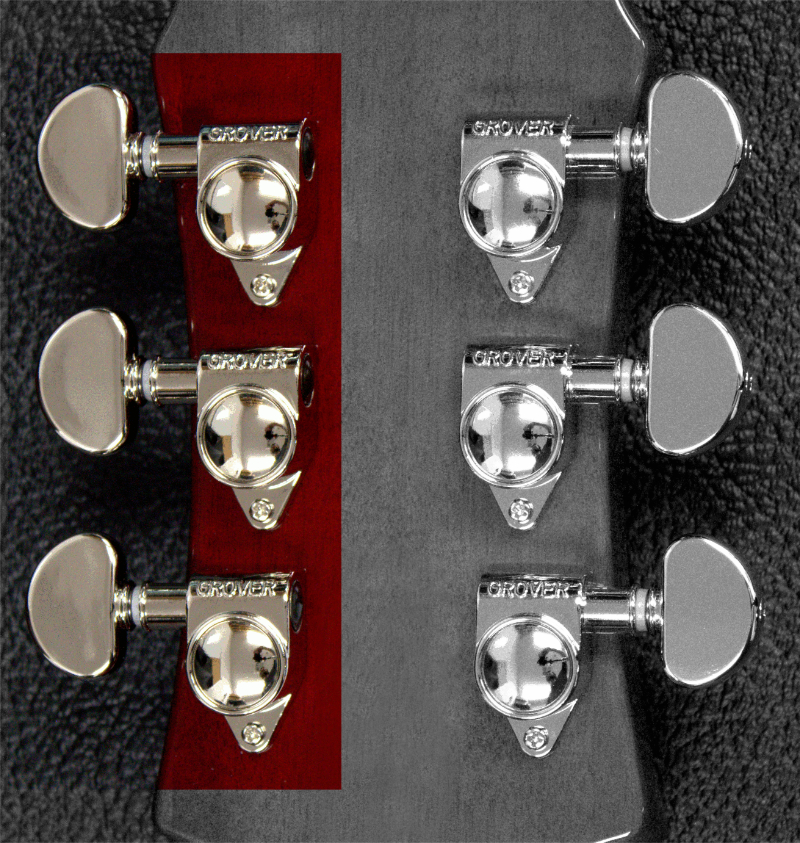 Treble side tuners