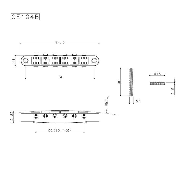 Bridge - Gotoh, Relic, Aged Nickel | Amplified Parts