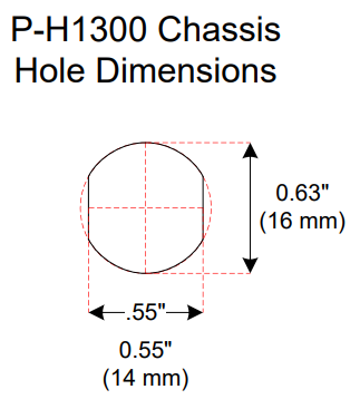 Chassis Hole Dimensions