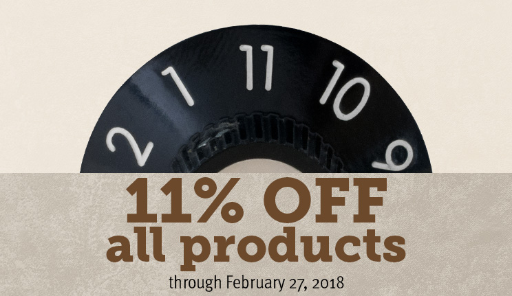 11% off all products