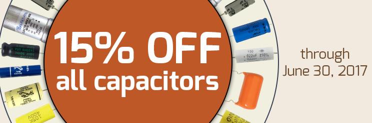 15% off all capacitors