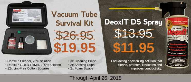 Sale on Perfect Straw DeoxIT and Vacuum Tube Survival Kit
