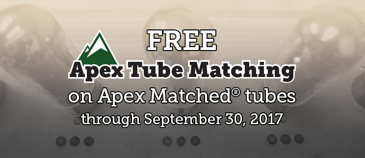 Free Apex Matching on Apex Matched vacuum tubes