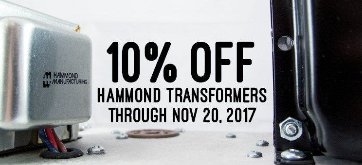 10% off Hammond Transformers