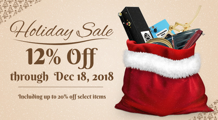 Holiday sale: up to 20% off!