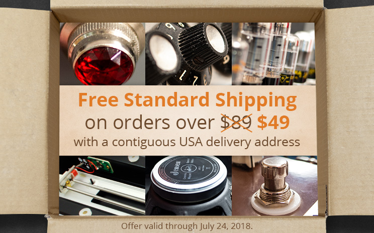 Free standard shipping on orders over $49