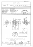 Specification Sheet for Non-shorting (break before make)