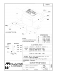 Specification Sheet for 18W | 8.4kΩ | 4/8/16Ω