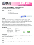 Specification Sheet for 8g Syringe