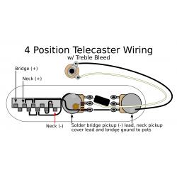 4 Position Tele Electronics Upgrade w/ Treble Bleed