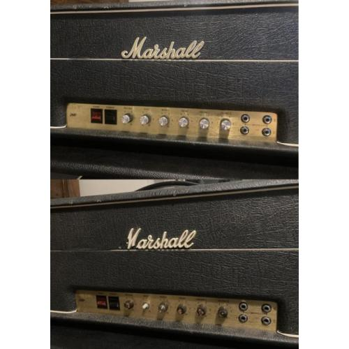 """Customer image:<br/>""""Before &amp;amp; after of my &amp;#039;77 Marshall 1959 Super Lead with the new knobs"""""""