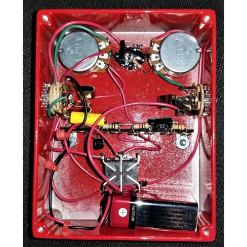 """Customer image:<br/>""""I added a 2K resistor to an LED and a switchable master volume"""""""