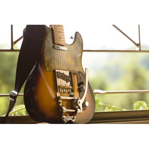"""Customer image:<br/>""""Telecaster Baja &amp;quot;customised&amp;quot; with Warmoth neck, and Bigsby Vibramate, look and sounds great ! """""""