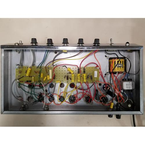 "Customer image:<br/>""Rebuild of 1964 Guitar amp using turret board."""