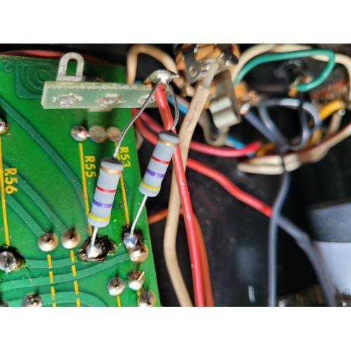 "Customer image:<br/>""Replacement of 1971 resistors in Ampeg B15s """