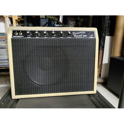 "Customer image:<br/>""Vanilla tolex on homemade Princeton cabinet"""
