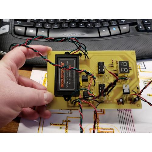 """Customer image:<br/>""""Here&amp;#039;s the DSP Module in place on the custom PCB."""""""