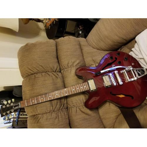 """Customer image:<br/>""""Bigsby 9.5 inch tremelo arm on Gibson ES 335"""""""