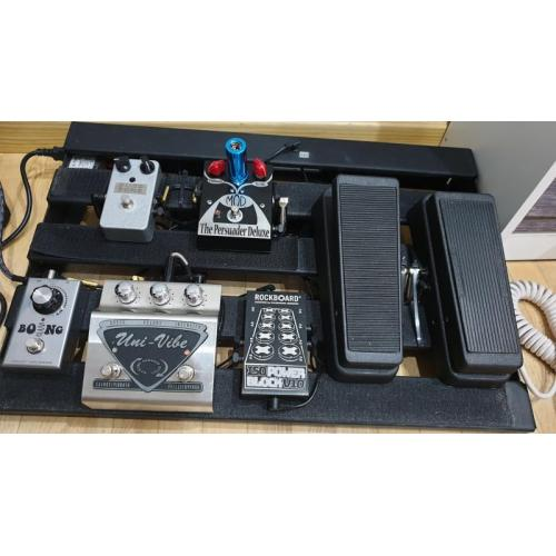 "Customer image:<br/>""In my psychedelic pedalboard. """