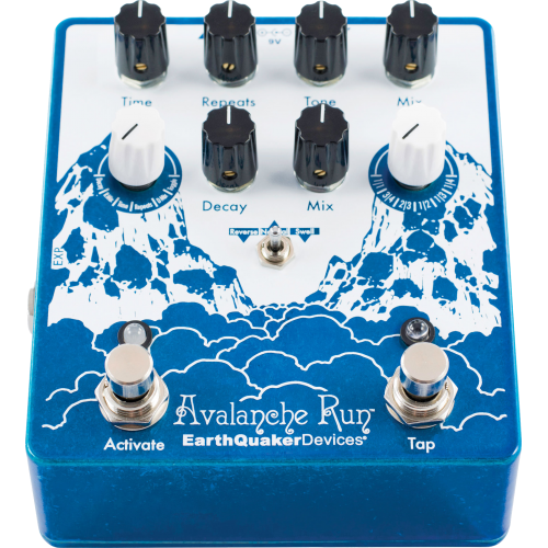 Effects Pedal – EarthQuaker Devices, Avalanche Run™, Stereo Reverb & Delay with Tap Tempo image 4