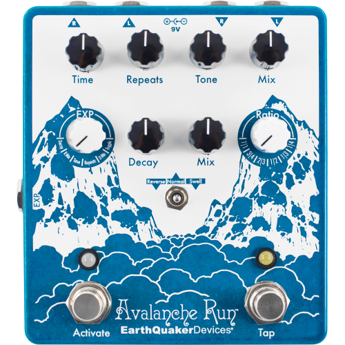 Effects Pedal – EarthQuaker Devices, Avalanche Run™, Stereo Reverb & Delay with Tap Tempo image 1