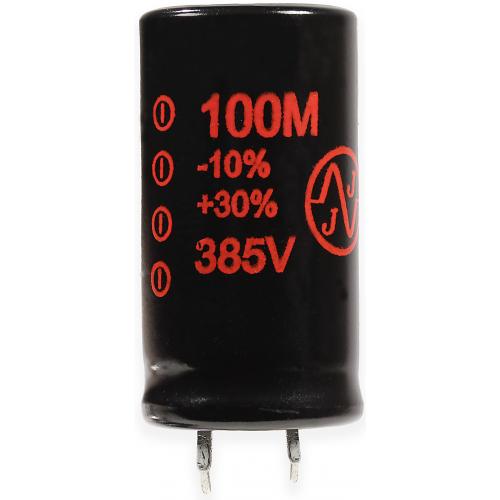 Capacitor - JJ Electronics, 385V, 100µF, Electrolytic image 1