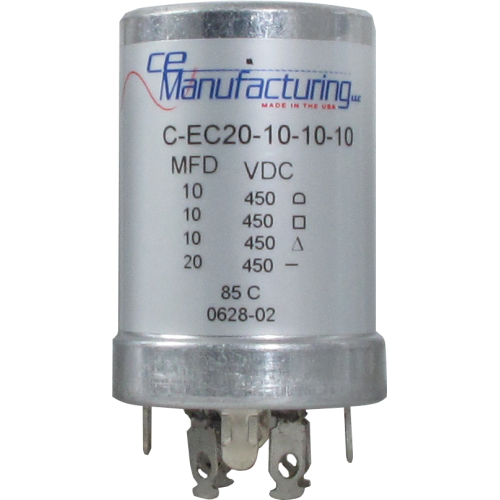 Capacitor - CE Mfg., 450V, 20/10/10/10µF  image 1