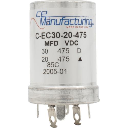 Capacitor - CE Mfg., 475V, 30/20µF, Electrolytic image 1