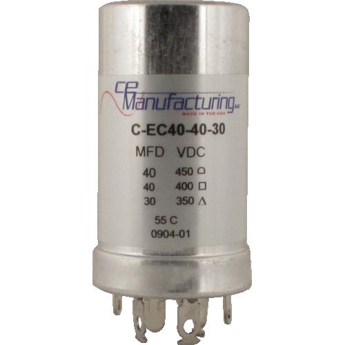 Capacitor - CE Mfg., 40µF/450V, 40µF/400V, 30µF/350V image 1