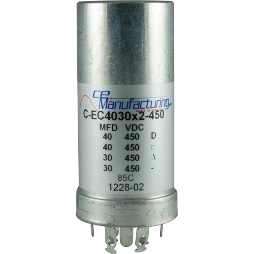 Capacitor - CE Mfg., 450V, 40/40/30/30µF, Electrolytic image 1