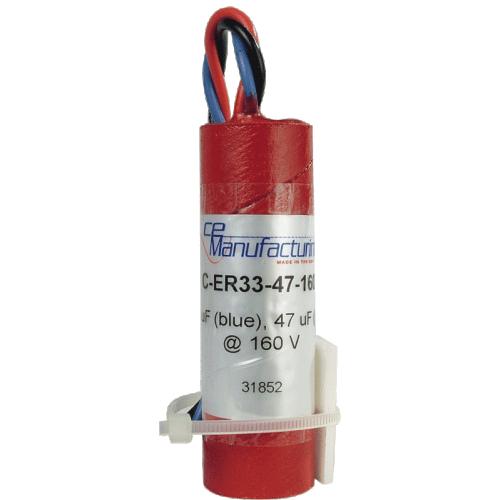 Capacitor - CE Mfg., 160V, 33/47 µF, Electrolytic image 1