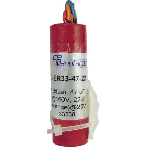 Capacitor - CE Mfg., 33µF@160V, 47µF@160V, 22µF@25V image 1