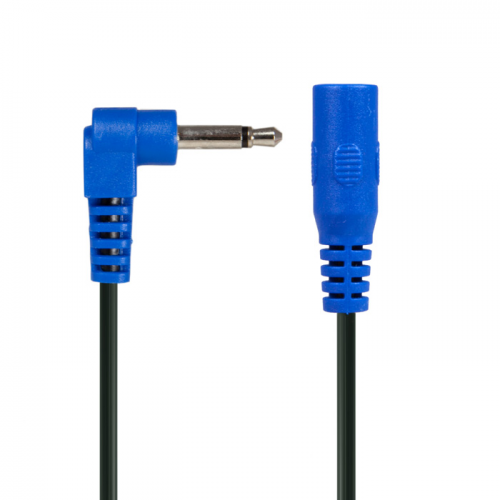 Cable - Power All, Blue Right Angle Phone Plug Extension Jumper image 4