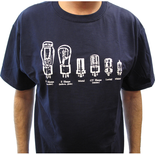 T-Shirt - Blue with Common Tube Shapes image 2