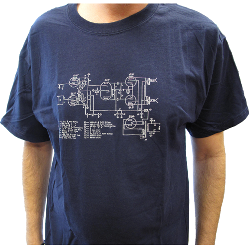 T-Shirt - Blue with Amplifier Schematic image 2