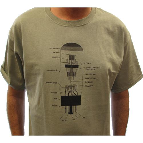 T-Shirt - Stonewash Green with 6L6 Diagram image 2