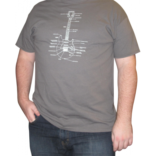 Shirt - Charcoal with Guitar Diagram image 2