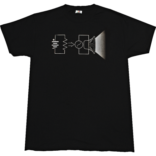 T-Shirt - Black, Abstract Equation for Power image 1