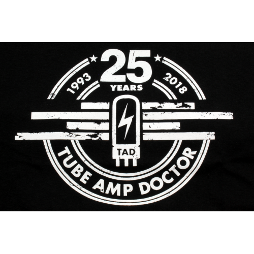 T-Shirt - Black, Tube Amp Doctor, 25 Years image 1