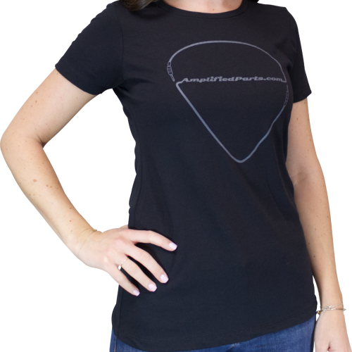 Shirt - Black, Amplified Parts Pick Logo, Women's Sizes image 2