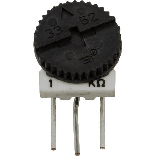 Trimmer - Bourns, 3352K, Single-Turn, Side Adjust, 1KΩ image 1