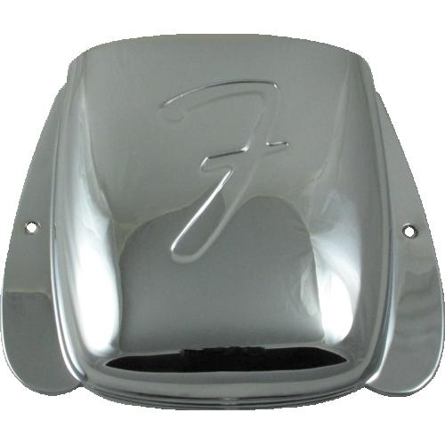 Bridge Cover - Fender®, for Vintage J-Bass, Chrome image 1