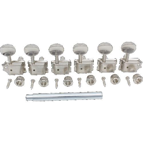 6-in-a-line Gotoh Locking Schaller-Type Knob Chrome Tuners