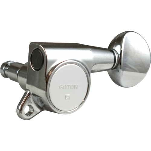 Tuners - Gotoh, Locking Oval Knob, 3 per side, Chrome image 2