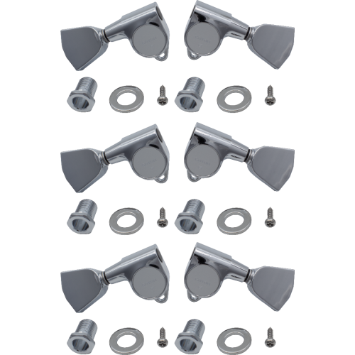 Tuners - Gotoh, Grover Style, Keystone, Chrome, 3 per side image 1