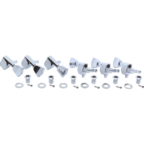 Tuners - Gotoh, Grover Style, Keystone, Chrome, 3 per side image 2
