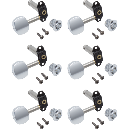 Tuners - Gotoh, Stealth Guitar, chrome, 6 in line image 1
