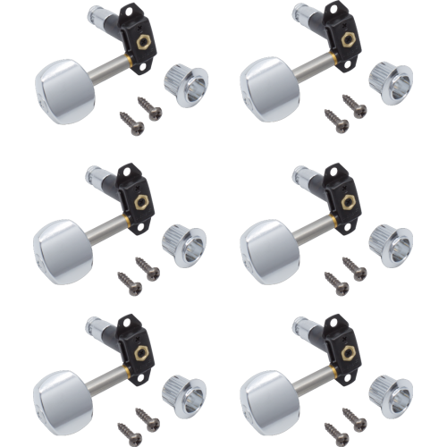 Tuners - Gotoh, Stealth Guitar, chrome, 6 in line, locking image 1