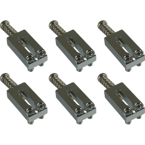 Bridge Saddles - Gotoh, Steel for guitar, chrome image 1