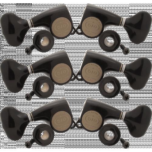 Tuners - Gotoh, Midsize 510, 21:1 Ratio, Black, 3 per side image 1